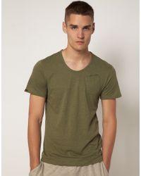 G-Star RAW - Green Ny Regular Deep R Crew Tshirt for Men - Lyst