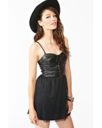 Nasty Gal | Black Salem Corset Dress | Lyst