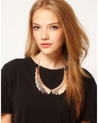 ASOS - Pink Scalloped Collar Necklace - Lyst