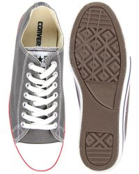 Converse | Gray All Star Slim Plimsolls for Men | Lyst