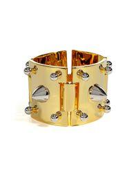 Eddie Borgo   Metallic Gold Cuff with Silver Studs   Lyst