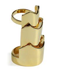 Eddie Borgo | Metallic Gold Hinged Plate Ring | Lyst