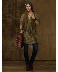Ralph Lauren   Brown Leather Vest   Lyst