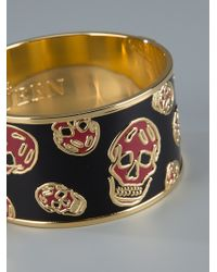 Alexander McQueen   Gold Skull Cuff Bracelet   Lyst