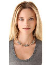 Anndra Neen - Metallic Seaweed Bow Choker - Lyst