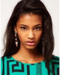 ASOS - Multicolor Aztec Triangle Drop Earrings - Lyst