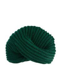 ASOS - Green Chunky Knit Turban - Lyst
