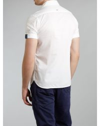 G-Star RAW - White Classic Two Pocket Short Sleeved Shirt for Men - Lyst