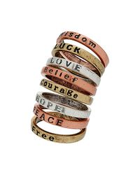 TOPSHOP | Multicolor Mix Word Ring Set | Lyst