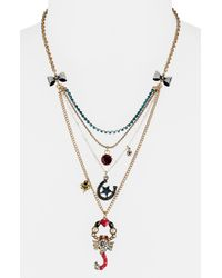 Betsey Johnson | Pink Flights Of Fancy Scorpion Charm Necklace | Lyst