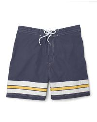 Brooks Brothers | Blue Small Stripe Board Short for Men | Lyst