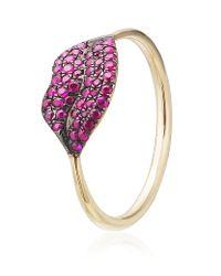 Diane Kordas | Pink Ruby Lip Ring | Lyst