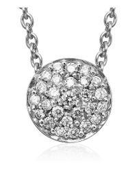 Georg Jensen | Metallic The Diamond Jubilee Regitze Disc Pendant | Lyst