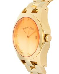 Marc By Marc Jacobs - Metallic Bracelet Watch with Tinted Dial - Lyst