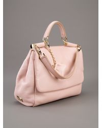 Dolce & Gabbana | Pink Leather Tote | Lyst