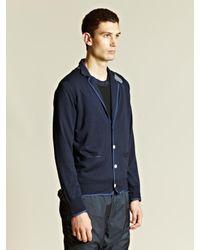 Sacai | Blue Sacai Mens Contrast Colour Cardigan for Men | Lyst