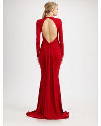 Michael Kors | Red Jersey Goddess Gown | Lyst