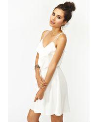Nasty Gal | White Geo Crochet Dress | Lyst