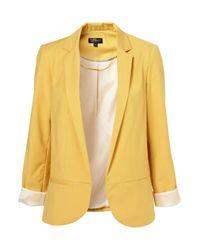TOPSHOP | Yellow Structured Blazer | Lyst