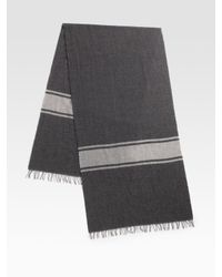 Vince - Gray Striped Scarf for Men - Lyst