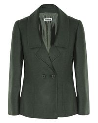 Jil Sander | Green Monet Wool and Angorablend Jacket | Lyst