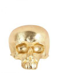 Natalia Brilli | Metallic Leather Skull Cuff Bracelet | Lyst