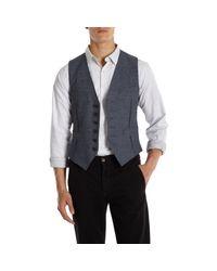 Rag & Bone - Blue Herringbone Waistcoat for Men - Lyst