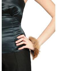 Viktor & Rolf | Beige Red Fox Fur Brass Metal Cuff | Lyst