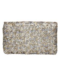 Dune | Silver Bequin Sequin Clutch Bag | Lyst