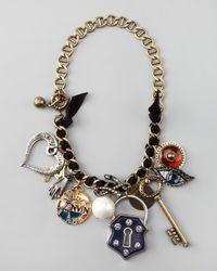 Lanvin - Multicolor Charm Necklace - Lyst