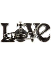 Vivienne Westwood | Metallic Love Orb Pin | Lyst
