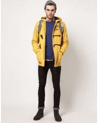 ASOS Yellow Duffle Coat for men