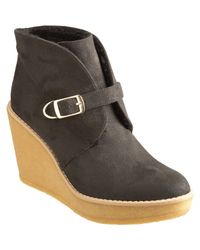 Stella McCartney | Black Wedge Ankle Boot | Lyst
