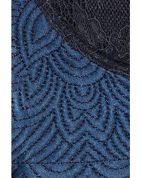 Stella McCartney - Blue Annie Picnicking Lace and Silksatin Bra - Lyst