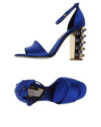 Stella McCartney - Blue Highheeled Sandals - Lyst