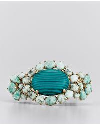 Ann Taylor | Green Cabochon Bracelet | Lyst