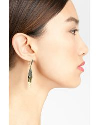 Judith Jack   Metallic Swarovski Crystal And Sterling Silver Hoop Earrings   Lyst