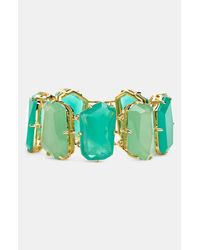 kate spade new york | Green Colored Stone Link Bracelet | Lyst