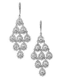 Nadri | Metallic Tiered Chandelier Earrings | Lyst