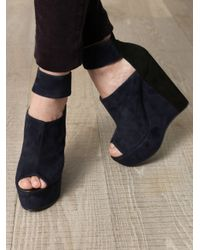 Pierre Hardy | Blue Bicolour Wedge Sandals | Lyst