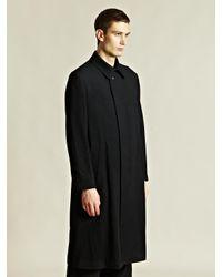 Yohji Yamamoto   Black Soutien Collar Coat for Men   Lyst