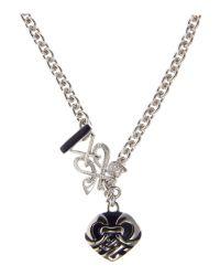 Biba | Metallic Pendant Enamel Chain Necklace | Lyst