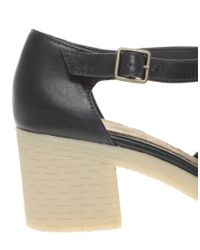 ASOS - Blue Asos Sinclair Leather Heels with Tbar - Lyst