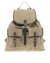 Ben Sherman Natural Ben Sherman Plectrum Waxed Backpack for men