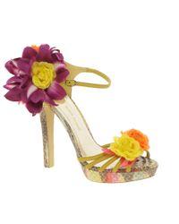 River Island - Multicolor Corsage Strappy Sandals - Lyst