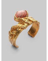 Saint Laurent | Metallic Arty Ovale Cuff Bracelet | Lyst