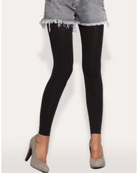 77be5c52fc9ac ASOS Collection Asos 80 Denier Footless Tights in Black - Lyst