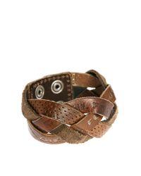 DIESEL | Brown Agarino Bracelet for Men | Lyst