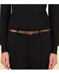 Gucci | Brown Braided Belt with Spur Buckle | Lyst