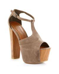Jessica Simpson | Brown Dany Platform Sandals | Lyst